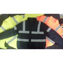 Campera Vial,trabajo,seguridad,impermeable,frio,reflectiva