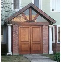 Puerta Doble Hoja En Cedro 160x200 C/vidrio Extra Porch