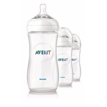 Set De 3 Mamaderas Linea Natural De Avent De 330ml.