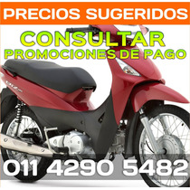 Honda Biz 125 Blanco Rojo Negro Gris Entrega En 60´ Min