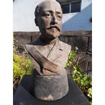 Antiguo Busto Petit Bronce De Gaston Leroux