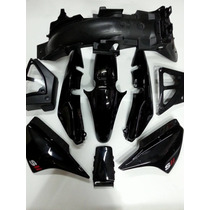 Kit Plasticos Motomel Cg150 S2 Negros Original. Cr Motos.