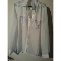 Camisas De Gasa Con Aplicaciones De Tachas Liquidacion $ 280