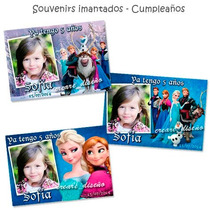 Frozen 10 Souvenirs De Cumpleaños - Imanes Personalizados