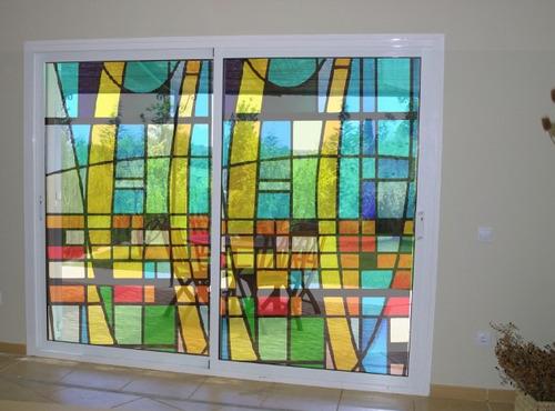 Vinilos decorativos vitraux vitro vidrios ventanas mamparas vinilos decorativos a ars 290 en - Vinilo para vidrios ...