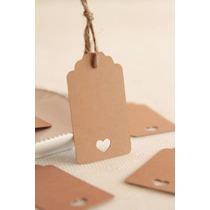 Etiquetas Tags En Papel Madera Para Souvenirs Gift Regalos