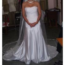 Vestido Novia 15 Casamiento Con Cola Desmontable (único)