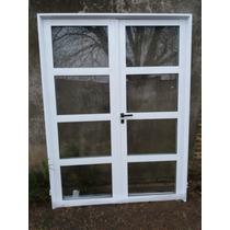 Puerta Doble Aluminio 150x200
