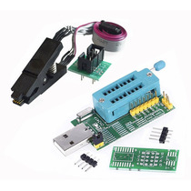 Programador Usb Ch341a + Pinza + Cable. Bios Eeprom 24 25