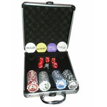 Poker 100 Fichas Dados Caja Alum / Open-toys Avellaneda 23