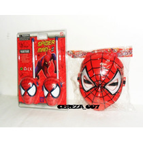 Walkie Talkie De Spiderman + Mascara Con Luces Hombre Araña