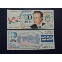 1999 - Billete De Fantasía Menem - Menem Trucho 1989/1999