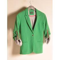 Blazer Verde Benetton Le Chomb Chaquette Xs | Xl Giacca