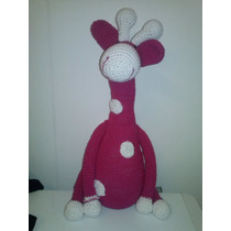 Jirafa En Amigurumi. Tejida A Mano En Crochet