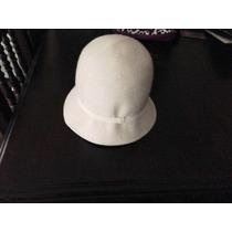 Sombrero Cloche De Fieltro Blanco