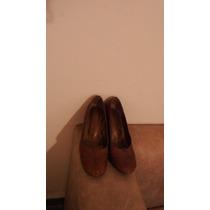 Zapatos Con Plataforma, Poco Uso Con Tachitas