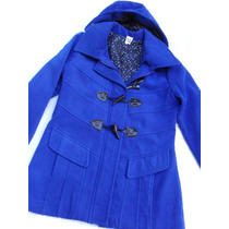 Bonito Saco Blazer Mongomery Azul Mujer Nuevo Talle M