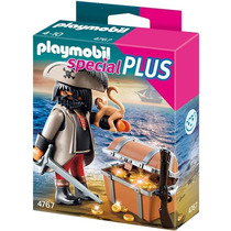 Playmobil Special Plus 4767 Pirata Con Cobrre Y Monito