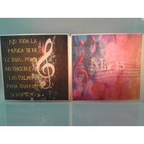 15 Años,souvenirs,centros De Mesa,velas,clave De Sol,musica.