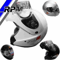 Casco Halcon Hawk Rebatible Negro Gris Blanco Rpm