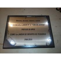 Placa Reconocimiento Acrilico Madera - Torfeos Y Medallas