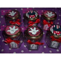 Frascos Souvenirs,mickey,minnie,cumpleaños,golosineros