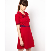 Vestido Sailor Marinero Pin Up Civil Fiesta Importado Uk