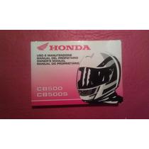 Manual De Usuario Honda Cb 500 Acepto Mercadopago!!!!