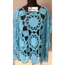 Sweater Tejido Crochet Hilo De Algodon