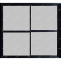 Puerta Ventana Balcon Aluminio Negro Vidrio 4mm 200 X 200
