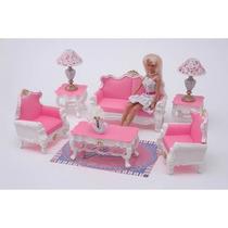 Gloria El Living - Simil Barbie Accesorio Muñeca
