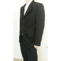Saco De Vestir Negro - Talle 38 - Impecable - 2 Usos!