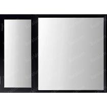Ventana Patagonica 120x110 Aluminio Negro Vidrio 4mm Premium