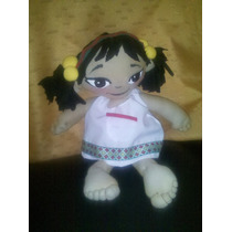 Muñeca Artesanal Dia Del Niño Princesa Medialuna Paka Paka