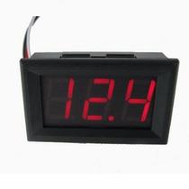 Voltímetro Digital Cc 4.5-30 Volts Leds Rojos Autoalimentado