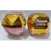 50 Diamante Top Lady Nombre Fecha Souvenir Perfume Frasco