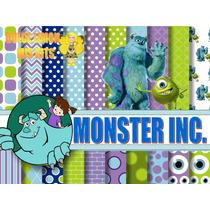 Kit Imprimible Papeles, Imagenes Monster Inc.y Mas!!!!!!!!!