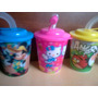 Vasos + Tapa Sorbete Pack X 10 Kitty Princesas Frozen