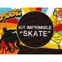 Kit Imprimible Skate Music Candybar Golsina Decoracion