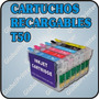 Cartuchos Recargables Para Epson R270 R290 T50 1410 Sin Tint