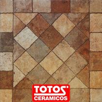 Ceramica De Patio Angelo Tostado 45x45 Antideslizante Totos