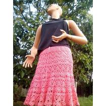 Pollera Tejida -crochet- Falda - Monica-schulz