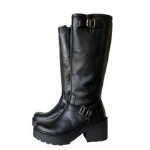 Botas Mujer Caña Alta Plataforma Zapatos Almacen De Cueros