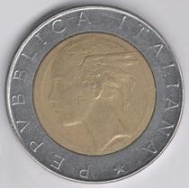 1986 Quinientas Liras (l . 500) Rep Italiana .. Buen Estado