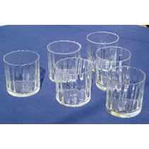6 Elegantes Vasos De Whisky / Agua Cristal Soplado Querandí