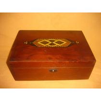 Antiguo Cofre Caja Alhajero Con Hermoso Gravado (0876)f
