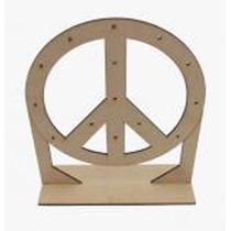 Porta Aros Símbolo De La Paz Grande Corte Láser En Mdf