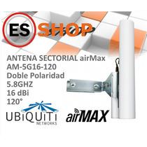 Ubiquiti Panel Sectorial Airmax 5ghz 16dbi 120º Doble Polar