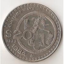 Mexico, 20 Pesos, 1984. Cultura Maya. Xf