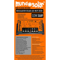 Regulador De Panel Solar 12/24v 30amp Mcp-2020 Mundosolar